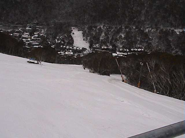 Lower Supertrail awaiting the onslaught of today's skiers & boarders