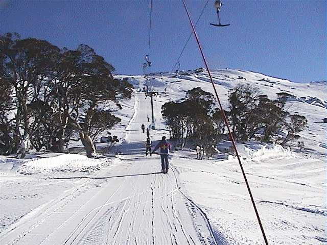 Sponars T-bar open for the first time this season