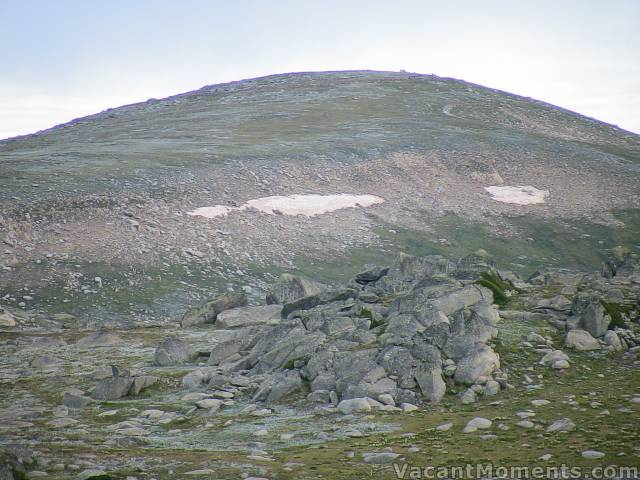 Mt Kosciuszko with the remaining winter snows