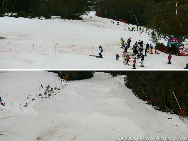 Interschool events on lower Supertrail and Hump run