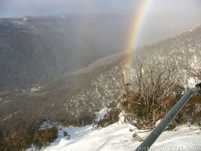 Magical rainbow over Thredbo this morning