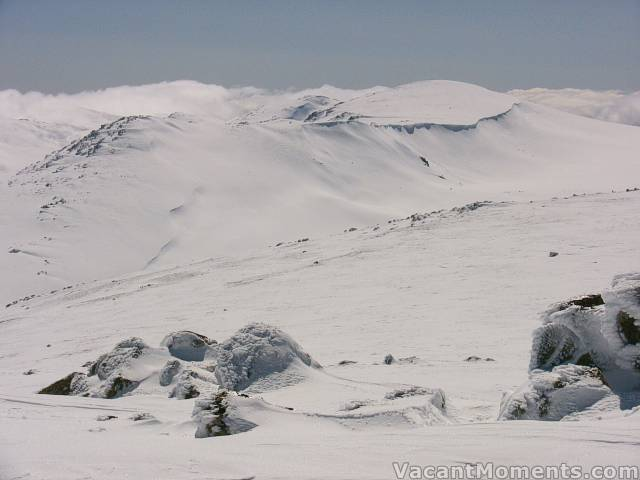 Mt Kosciuszko, the cornice, south ridge and Mt Townsend in the background